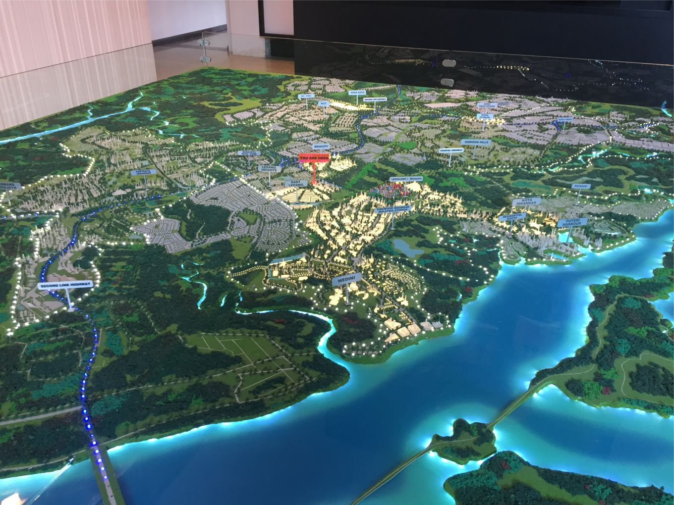 Masterplan Scale Model of Medini Iskandar, Nusajaya Scale 1:3000